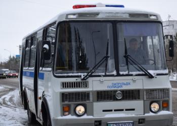Автобусы для бесплатного проезда полицейских запустили в Кокшетау 2