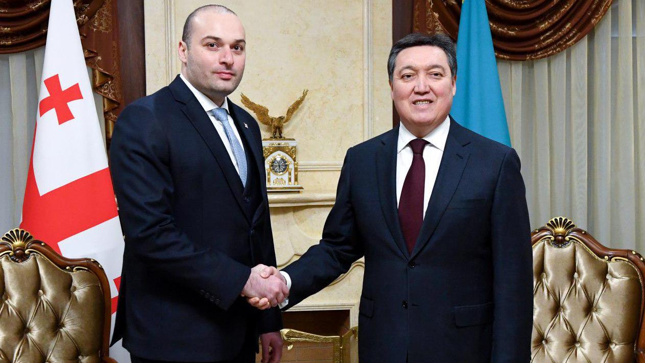 Аскар Мамин провел переговоры с Премьер-Министром Грузии М. Бахтадзе