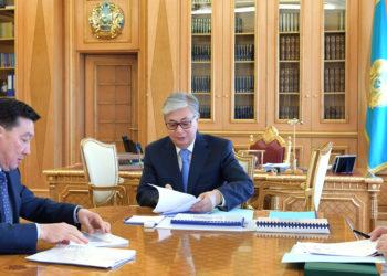 Касым-Жомарт Токаев провел встречу с председателем правления АО НК «Казмунайгаз» 1