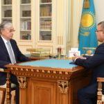 К. Токаев посетил СЭЗ «Сарыарка» и логистический центр «Альфарух» 1
