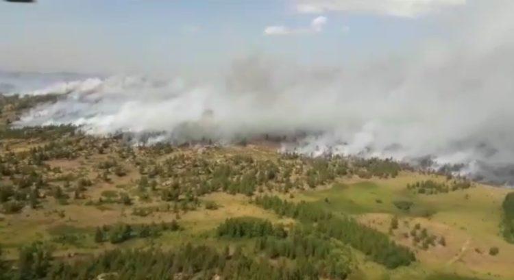 Площадь пожара в государственном национальном парке в Карагандинской области увеличилась 1