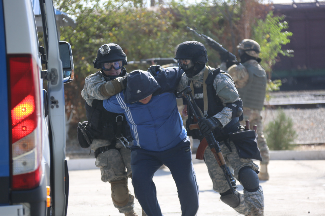 В Таразе проведено республиканское учение «Теміржол-Антитеррор-2019»