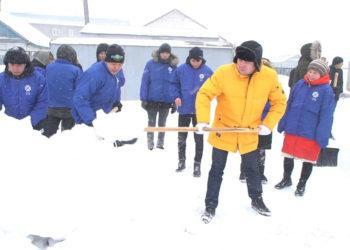 Челлендж по уборке снега запустили в Нур-Султане