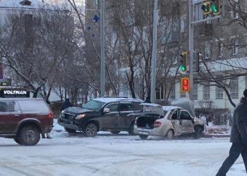 Пассажирка и водитель пострадали в результате страшного ДТП в Петропавловске 4
