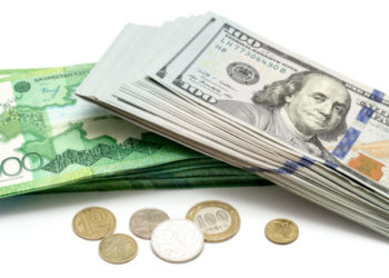 Money Kazakhstan tenge and US dollars