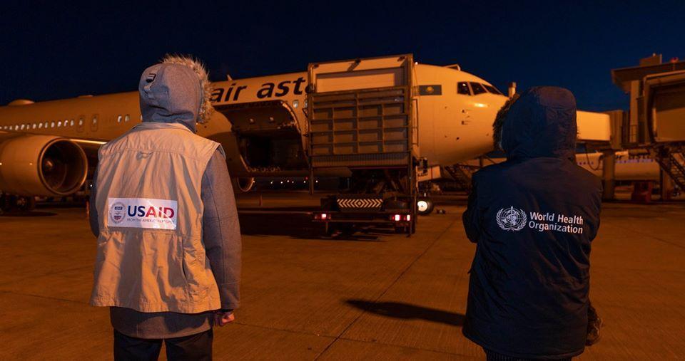 Средства индивидуальной защиты доставили в Казахстан в качестве гуманитарной помощи