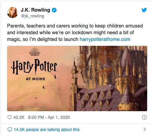 Джоан Роулинг запустила сайт «Гарри Поттер дома» 1
