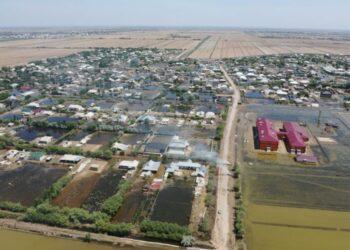 Вода ушла из всех затопленных сел в Туркестанской области 2
