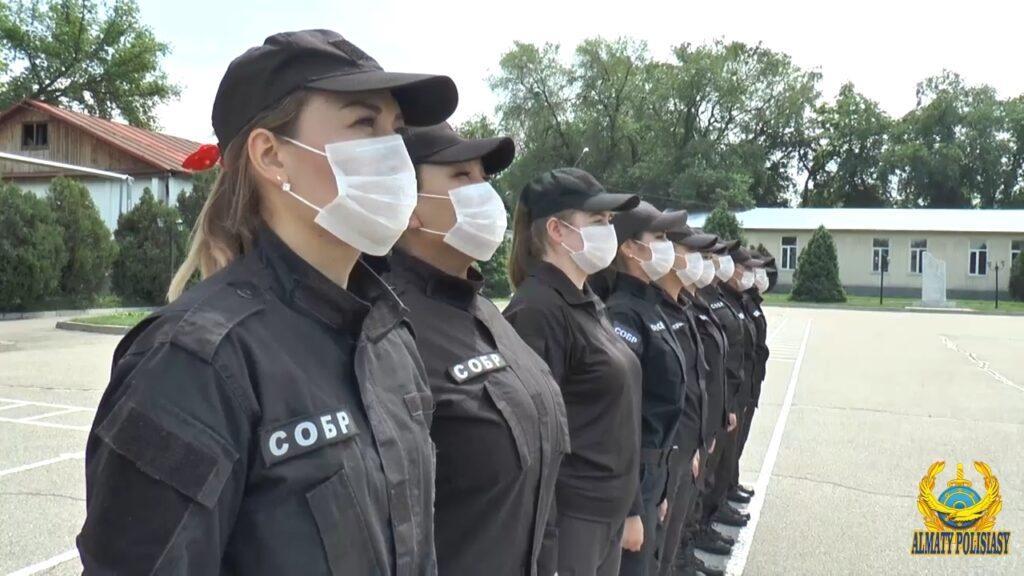 Женский СОБР: полиция Алматы показала фото красавиц в форме 1