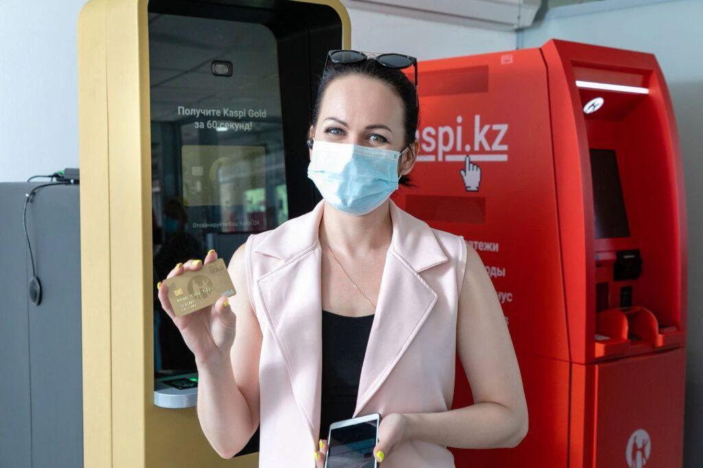 Kaspi.kz запатентовал уникальное устройство Kaspi Картомат 2