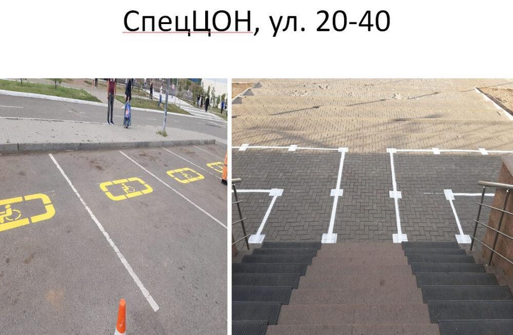 Перед зданиями столичных ЦОНов установлены отметки социальной дистанции