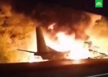 Военный самолет с курсантами разбился под Харьковом 2