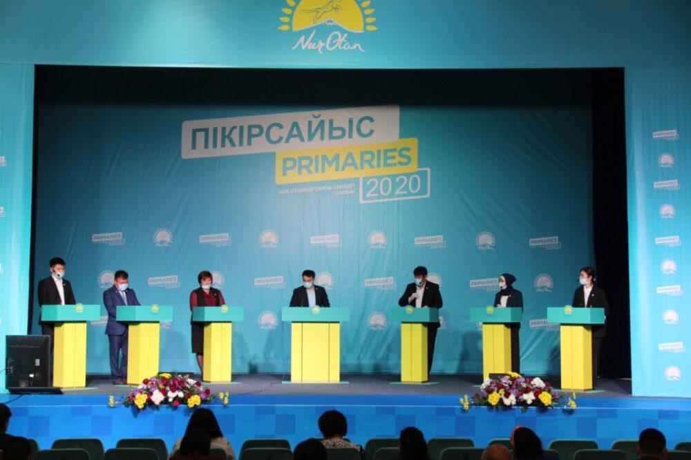 Праймериз Nur Otan: В Уральске прошли первые публичные дебаты среди участников 1