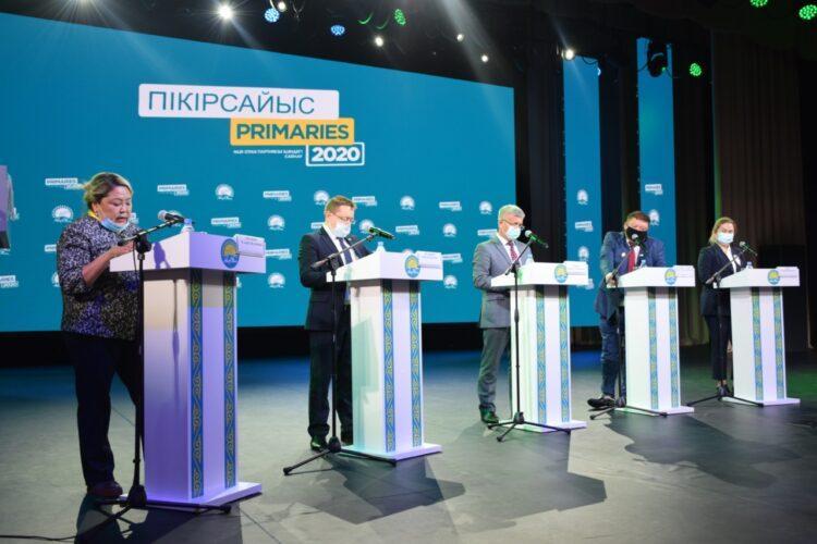 В Костанае состоялись публичные дебаты Nur Otan 1