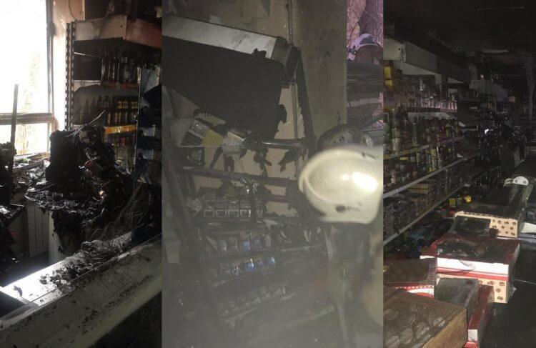 Из-за загоревшегося магазина эвакуировали жителей многоэтажки в ВКО 1