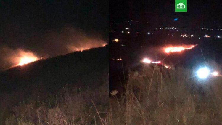 Горящий метеорит упал в Ливане и стал причиной пожара 1