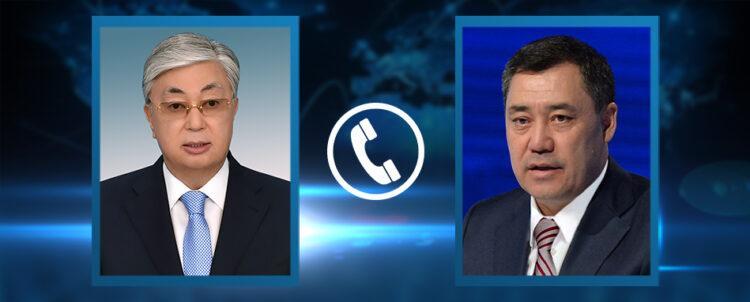 Жапаров позвонил Токаеву и поблагодарил за поддержку Кыргызстану 1