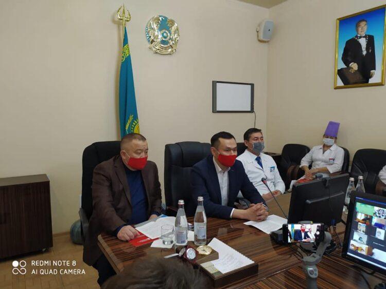 Кандидаты в депутаты от партии НПК встретились с медработниками Кокшетау 1