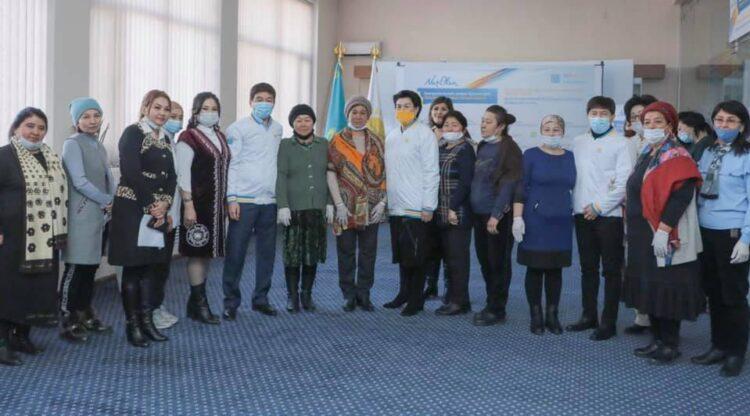 Предвыборный штаб партии Nur Otan встретился с жителями Туркестанской области 1