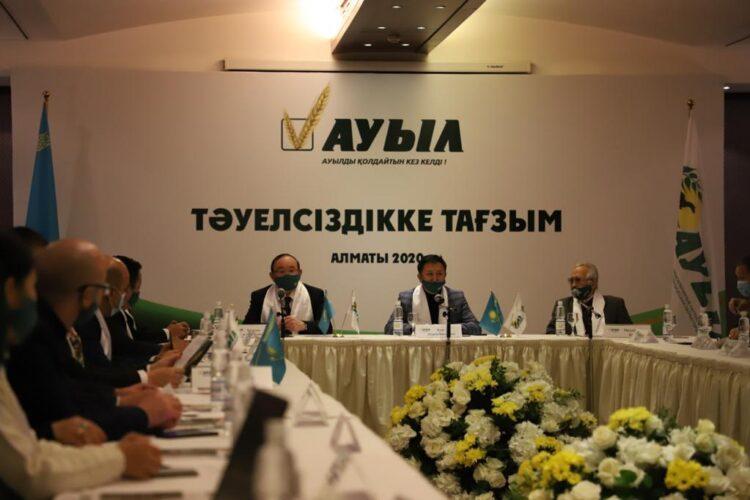 Кандидаты от партии «Ауыл» встретились с артистами и писателями Алматы 1