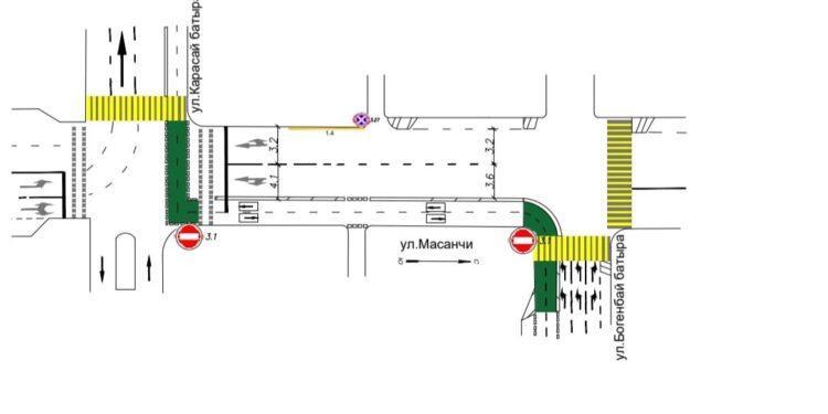В центре Алматы на одной из улиц вводится одностороннее движение 1