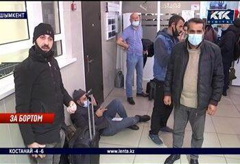 Голодные и уставшие пассажиры ночуют на полу аэропорта Шымкента 1