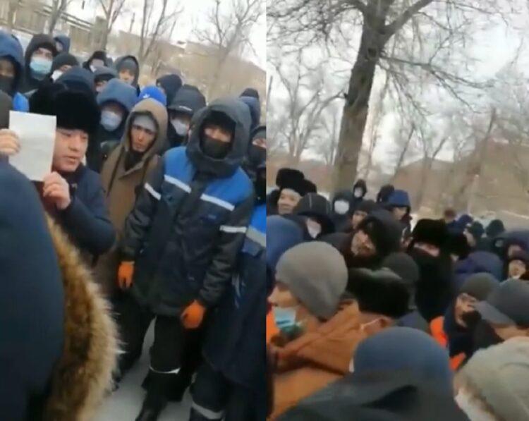 """Работники """"Казахмыс"""" устроили забастовку в Жезказгане 1"""