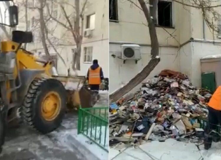 Астанчанин превратил свою квартиру в свалку 1