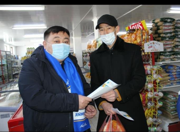 Кандидаты-нуротановцы Туркестанской области обошли магазины, объяснили программу 1