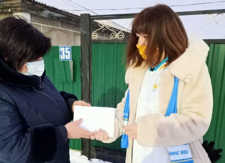 В Павлодарской области активисты провели акцию «от двери к двери» 1