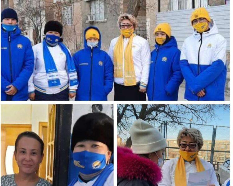 """В Жанаозене продолжается акция """"от двери к двери"""" 1"""