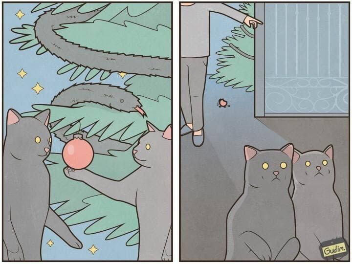 Как защитить новогоднюю елку от кота: 11 советов 1