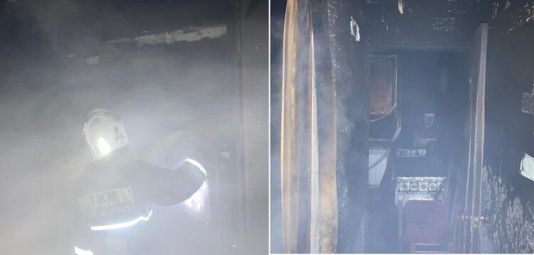 Фото пожарных с места происшествия