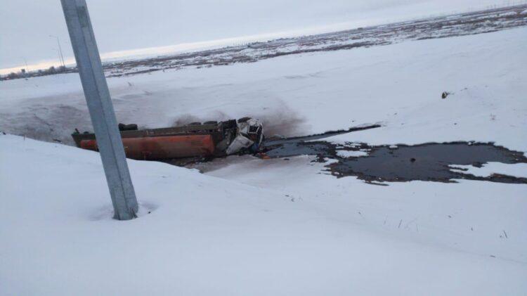 15 тонн химикатов разлили в Карагандинской области 1