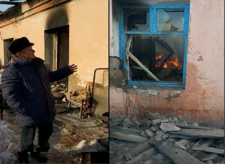 У шахтера в Сатпаеве сгорел дом после того, как он отказался выселяться 1