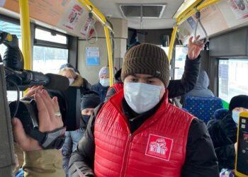 Члены НПК проверили безопасность столичных автобусов 9