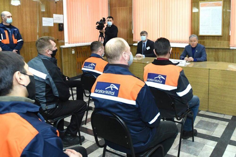 Нурлан Нигматулин встретился с шахтерами Карагандинской области 3
