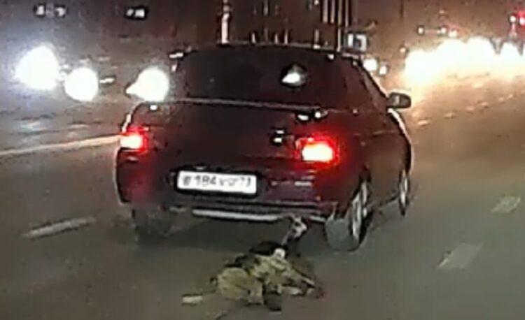 Житель Атырау привязал собаку к машине и протащил по дорогам города 1