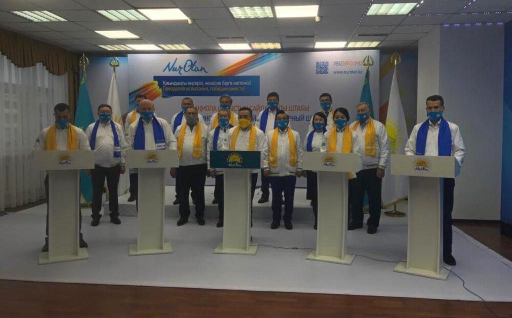 Три тысячи обращений получили члены Nur Otan в Акмолинской области за время агитации 1