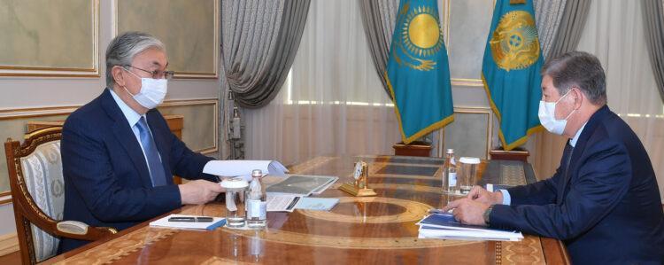 Есимов сообщил Токаеву, что за три года ФНБ «Самрук-Казына» перечислил в Нацфонд 554 млрд тенге 1