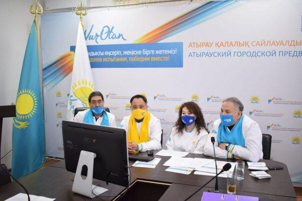 Кандидаты в депутаты от Nur Otan встретились с деловыми женщинами Атырауской области 1