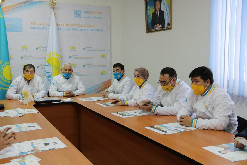 Выборы-2021: нуротановцы встретились с десятками тысяч жителей Жанибекского района ЗКО 2