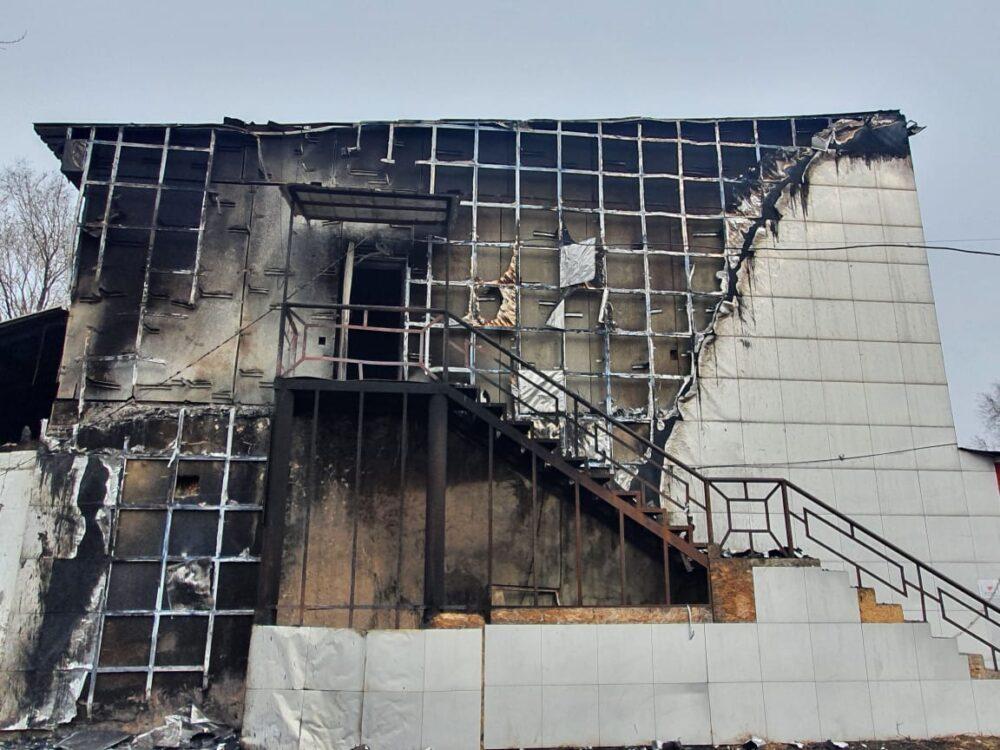 Кафе сгорело в Алматинской области 2