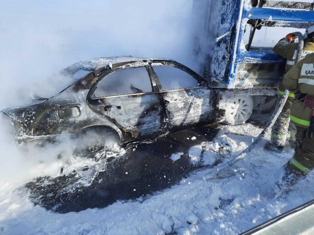 В Акмолинской области образовалось скопление более 800 автомобилей 2
