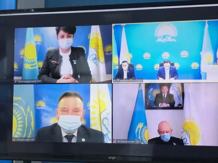 В Акмолинской области утвердили Дорожную карту по реализации предвыборной программы Nur Otan 1