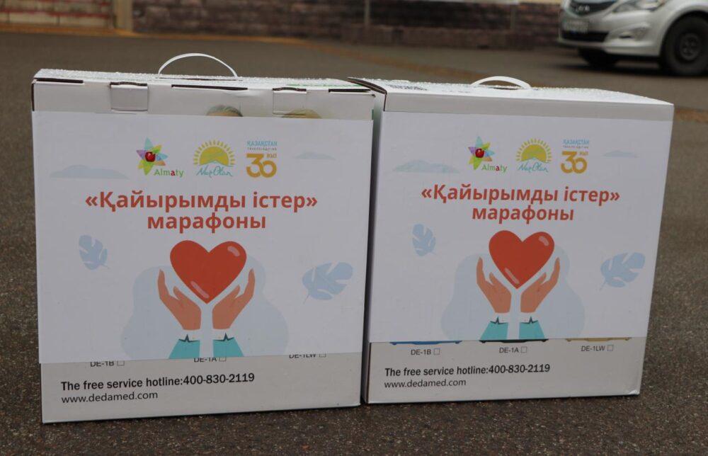 Нуротановец подарил кислородные концентраторы Алматинской поликлинике 2