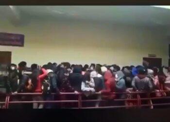 Фото: скриншот с видео со студентами в Боливии
