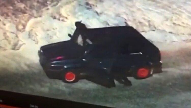 Фото: скриншот с видео угона