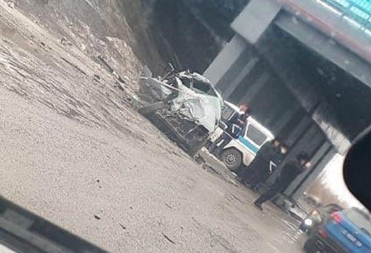 Водитель иномарки погиб в ДТП с участием автобуса в Караганде 1