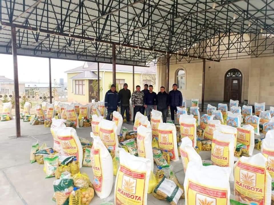 Меценат из Nur Otan раздал продукты 100 семьям 2
